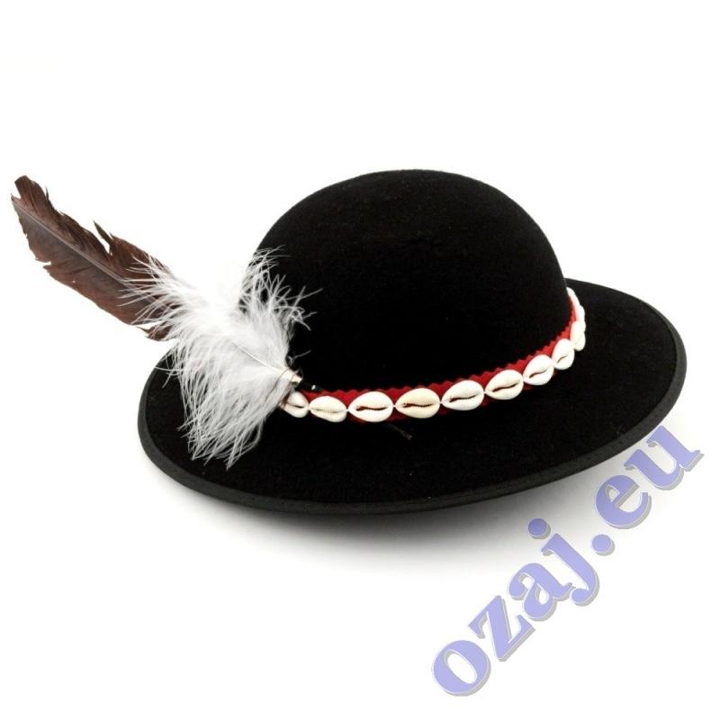 0072b435e Goralský klobúk s mušličkami