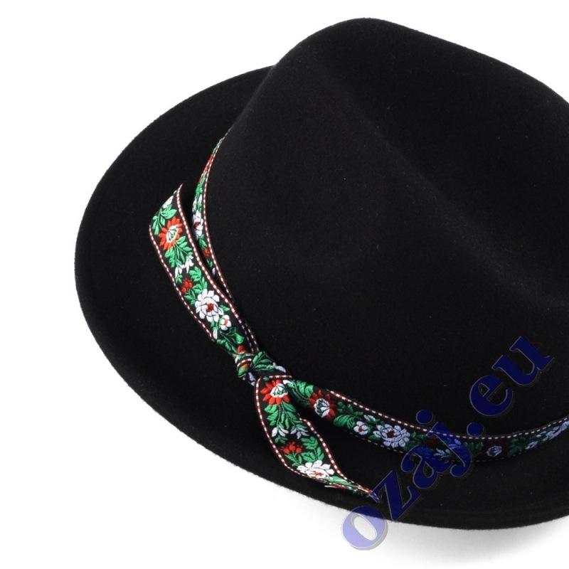 857051382 ... Pánsky ľudový klobúk so stuhou